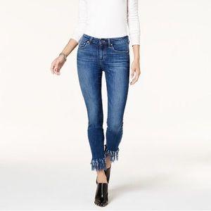 Joe's Jeans The Icon Mid Rise Skinny Fringe Fray